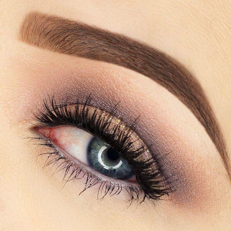Beautiful nature look eye makeup