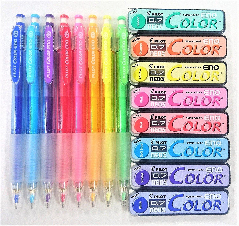 Pilot Eno 0.7mm Mechanical Pencil color Lead Refills Assorted colors