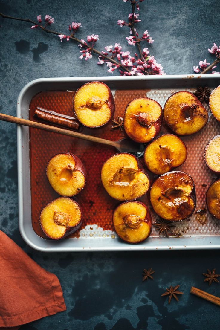 Vegan Breakfast Polenta With Rose Roasted Plums Recipe Vegan Breakfast Fall Recipes Breakfast Recipes