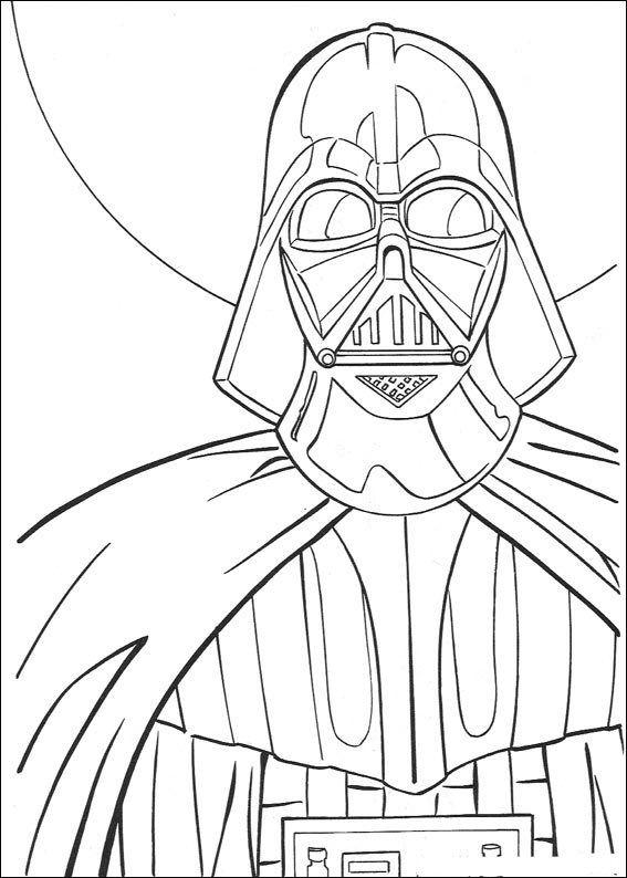 Kleurplaat Star Wars Darth Vader Coloring Books Pinterest