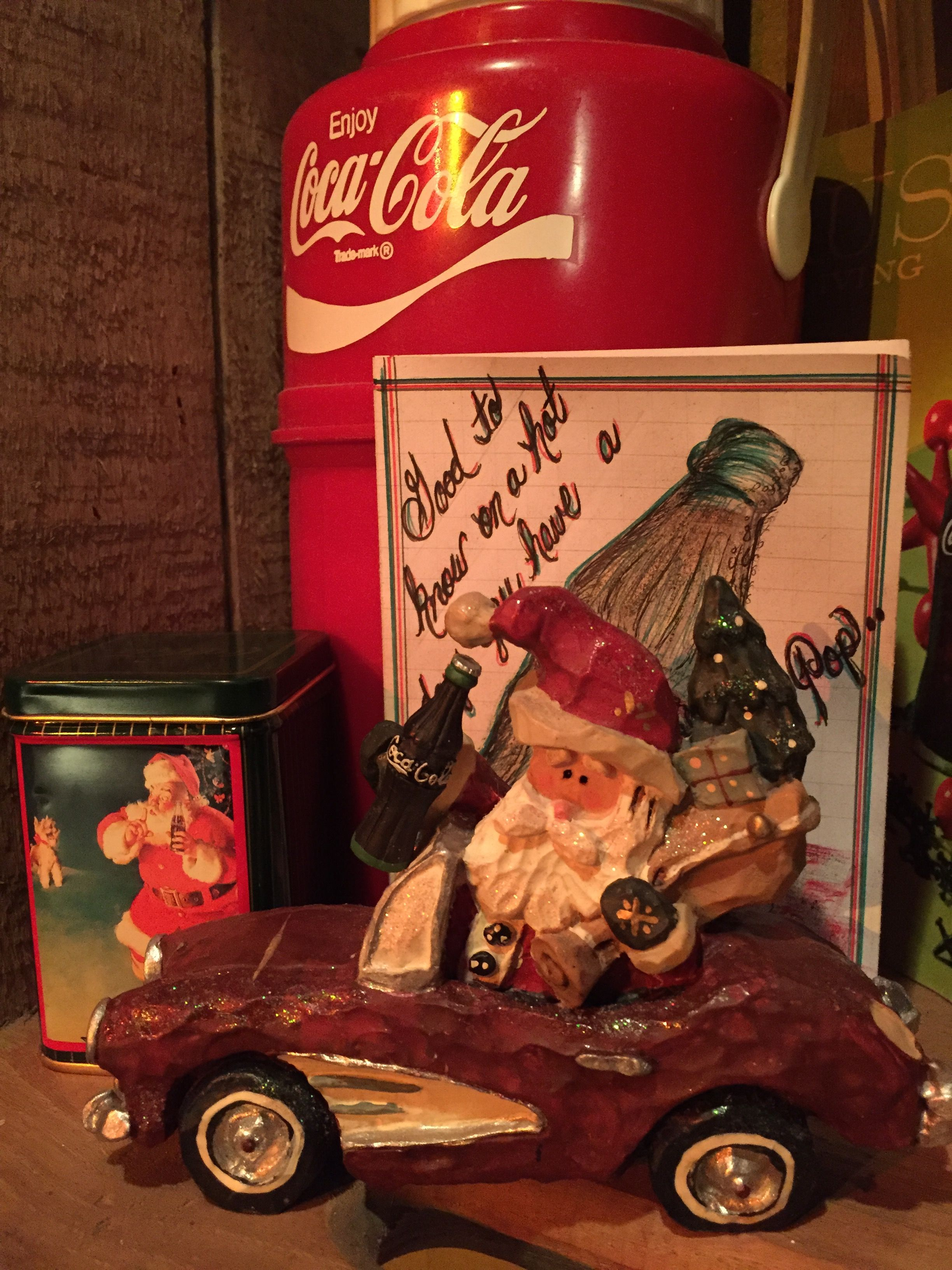 Kurt Adler Coca Cola Santa Claus In Car