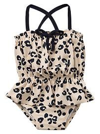 30f924a13e89a I mean Leopard print & peplum! I just wouldn't be me if I didn't get this  for my princess;)). Baby Gap NWT Leopard Peplum One-Piece Swimsuit 18 24 2  ...