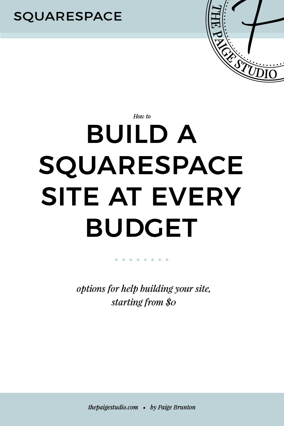 How to build a Squarespace site at every budget Web