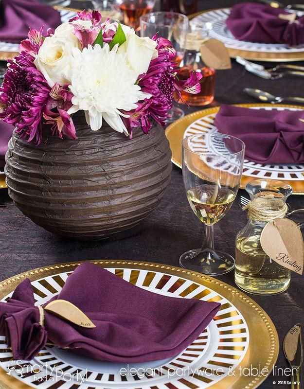 Gorgeous Paper Lantern Vase Wedding Tablescape 41