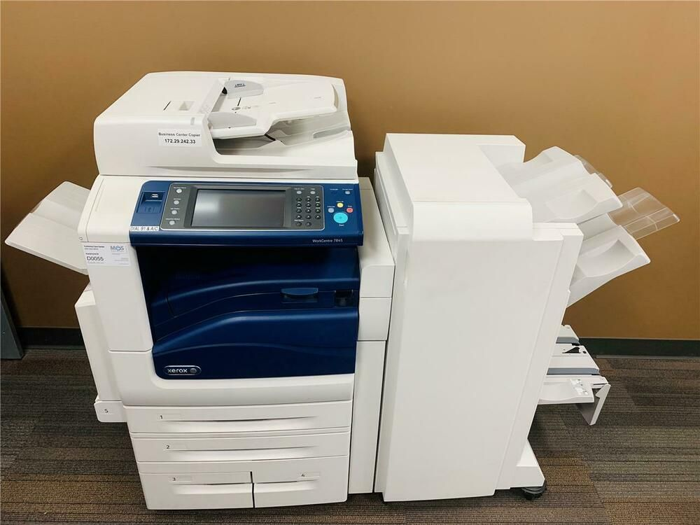 Xerox Business Workcentre Copier Printer Scanner 7845 Sfn 8