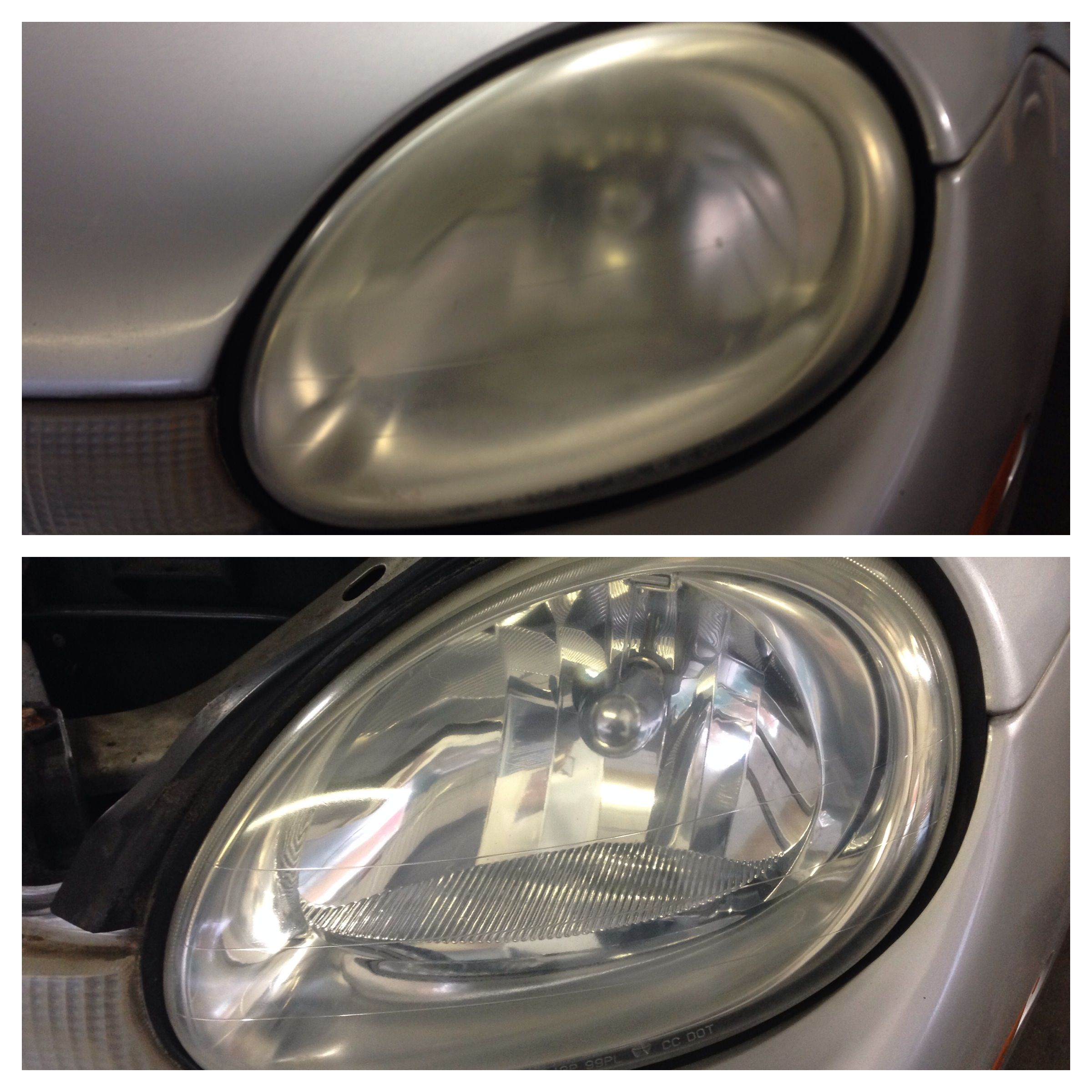 We now offer Headlight Restoration, Paintless Dent Removal
