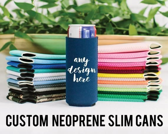 Slim Can, 12oz Skinny Can Neoprene, Custom Neoprene Slim Can Cooler, Custom Baby Shower Favors, Bachelorette Gifts, Wedding Favors, Birthday -  12oz Skinny Can Hugger Custom Neoprene Slim Can Cooler Personalized Baby Shower Favors Bachelorette - #12oz #baby #bachelorette #bachelorettegifts #Birthday #coolgift #cooler #craftedgifts #custom #diyforhimgifts #favors #gifts #giftsfordaddys #giftsformother #giftsforpuppies #giftsforteenager #giftsthatgiveback #greatgifts #neoprene #perfectgifts #show