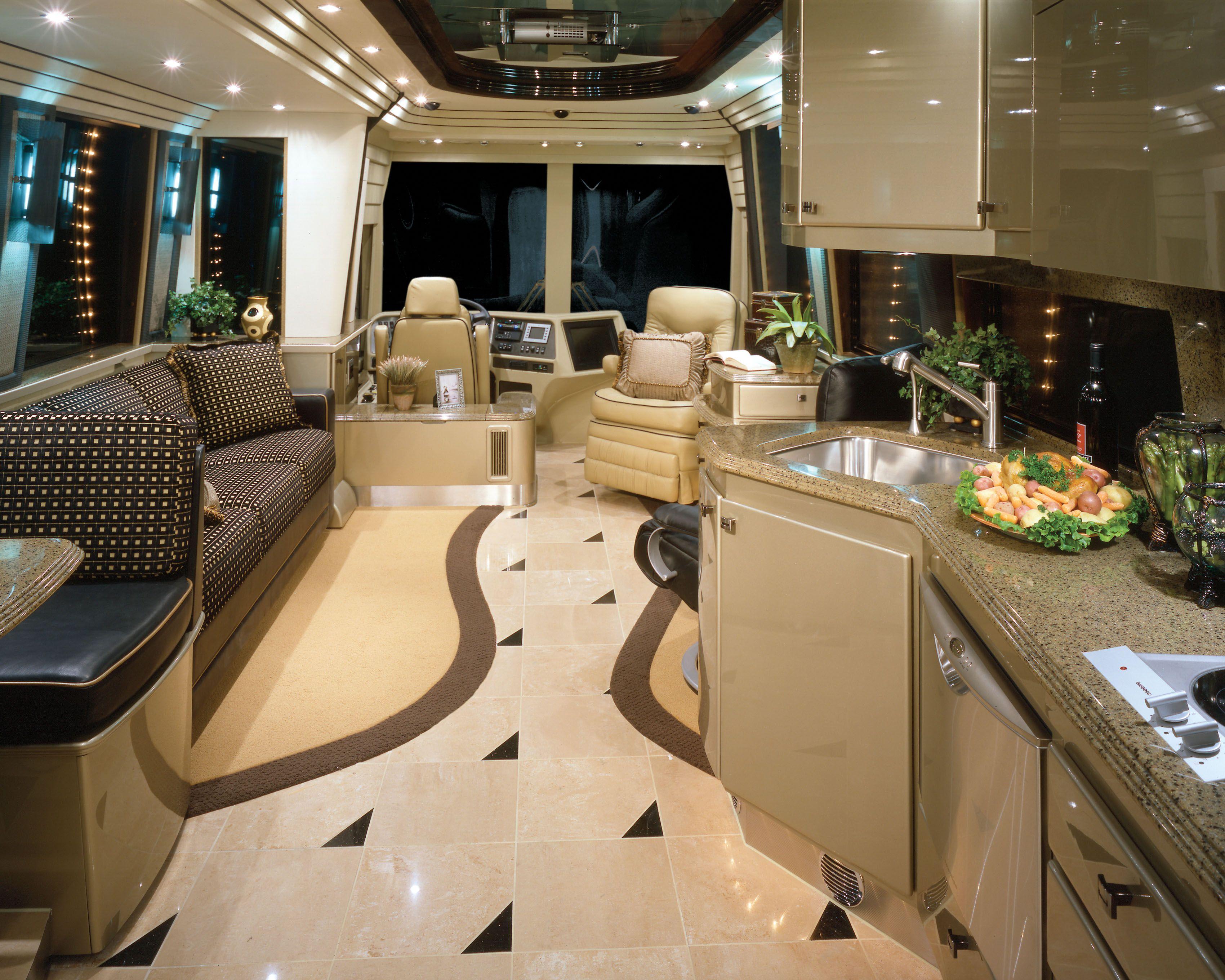 Pin By Jarrett Williams On Favorite Places Spaces Luxury Rv Rv Interior Design Motorhome Interior