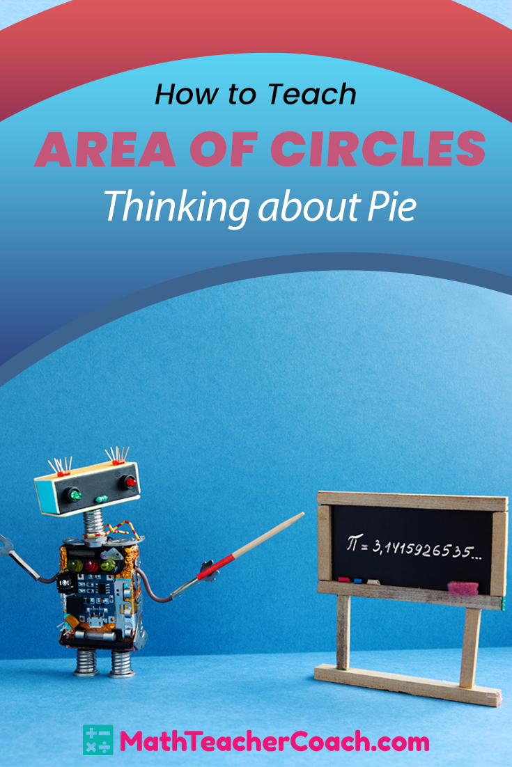 Area Of Circles Thinking About Pi In 2020 Pre Algebra Activities Free Math Lessons Math Games Middle School [ 1102 x 735 Pixel ]