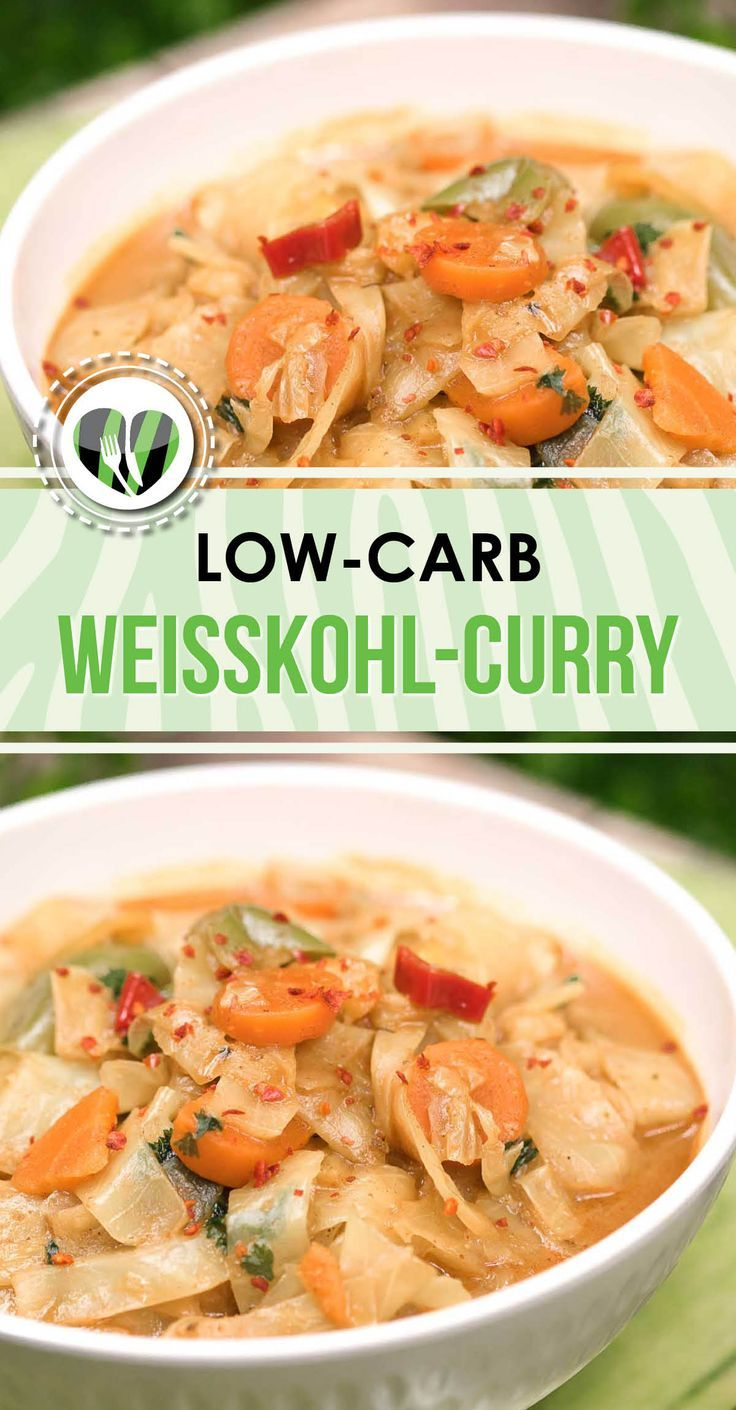 Photo of White cabbage curry – delicious and simply prepared – low carb – vegan