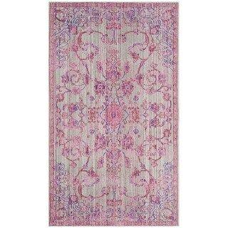 Photo of Safavieh Valencia Shahide Distressed Vintage Boho Oriental Polyester Rug (9′ x 12′ – Blue/Multi)