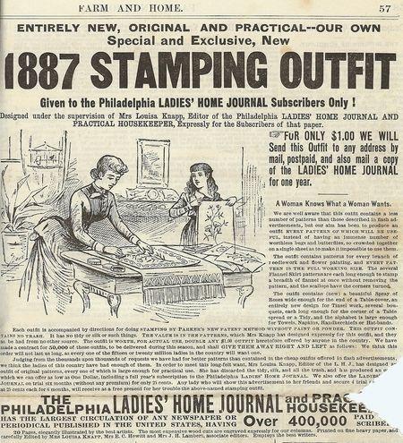 1887 Farm and Home Newspaper