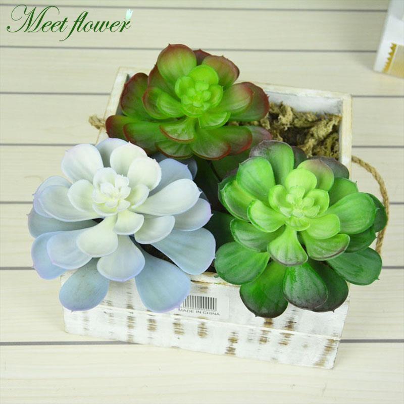 Artificial Plant Wedding Room Home Decoration Plastic Echeveria High Quality