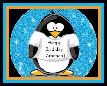 Happy B Day Amanda Penguins Happy Birthday Amanda Cute Penguins