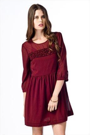 Koton Bordo Bayan Elbise 3kal81717ow 488 Sadece 42 99tl Ile Trendyol Da The Dress Elbise Mini Elbiseler