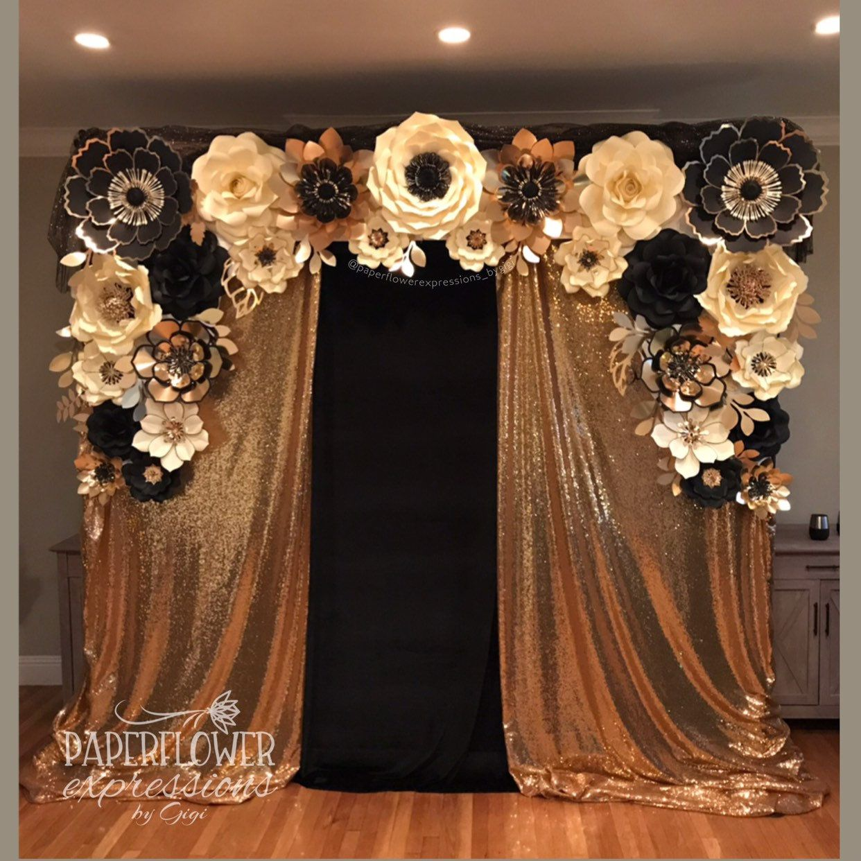 Gold Ivory And Black Backdrop Wall Buy Rental Great Gatsby