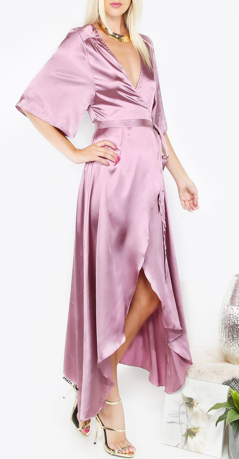 Light Purple Short Sleeve Long Dress | Pinterest | Ropa y Vestiditos