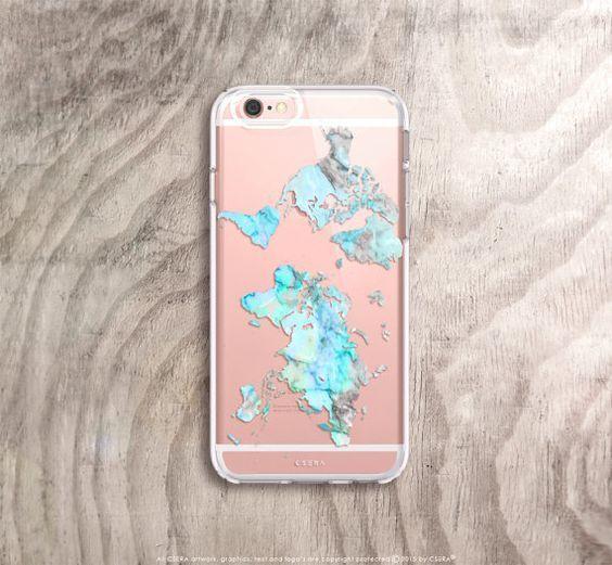 World Map IPhone 6s Case Mint IPhone 6S Plus Case Map