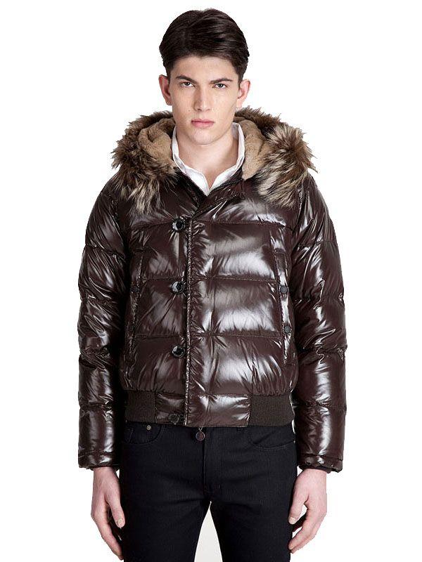 High fashion Moncler Men Bulgarie Dark Brown Jacket Just $248 CLICK IT!