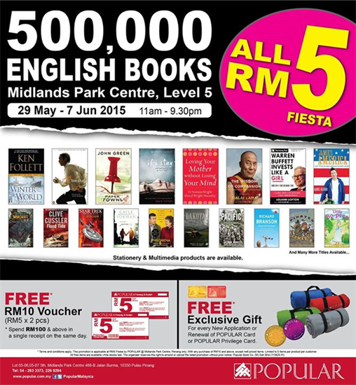 29 May 7 Jun 2015 Popular 500 000 English Books Rm5 Fiesta