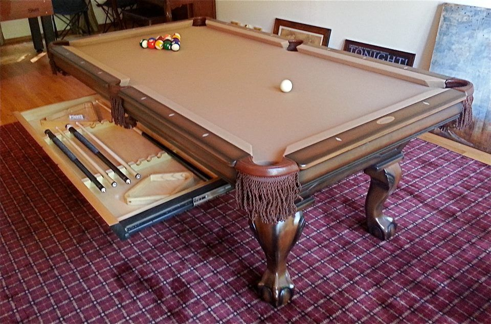 Golden West X Oxford Pool Table With Hidden Accessory - 3 1 2 x 7 pool table