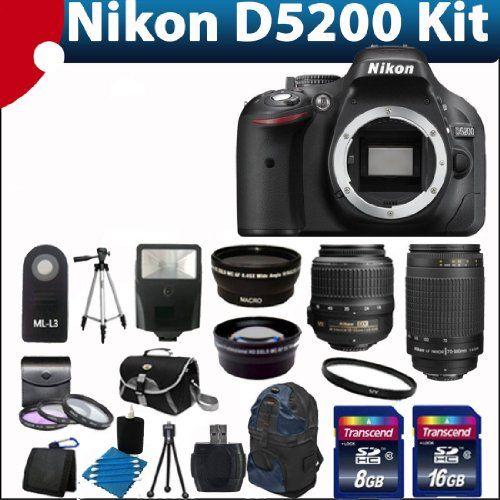 Nikon D5200 24 1 Mp Cmos Digital Slr Camera Black With 18 55mm F 3 5 5 6g Af S Dx Vr Vibration Reduction Nikkor List Price 1 099 00 Price 819 95