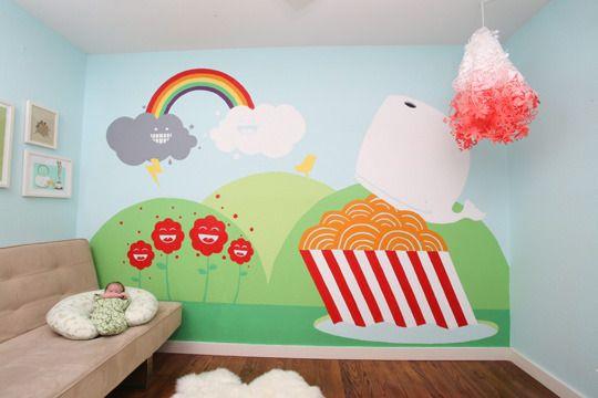DIY Wall Murals For Little Girlsu0027 Rooms Nice Design