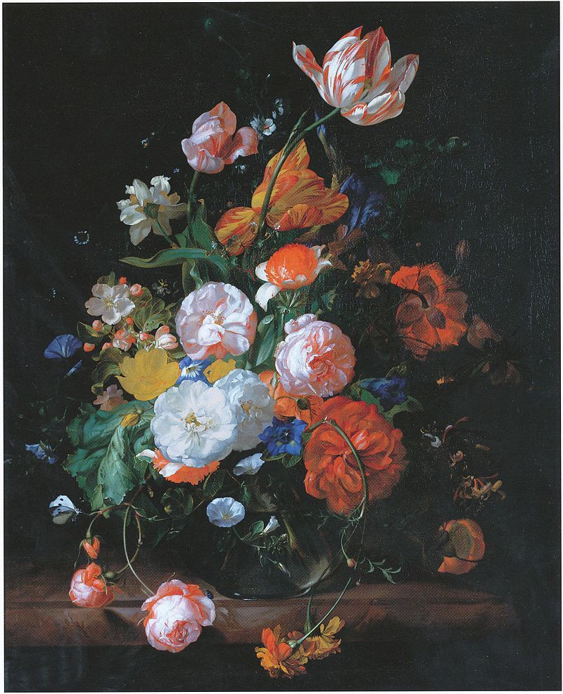 Rachel ruysch flowers in a glass vase on a marble slab formerly explore still life flowers glass vase and more reviewsmspy