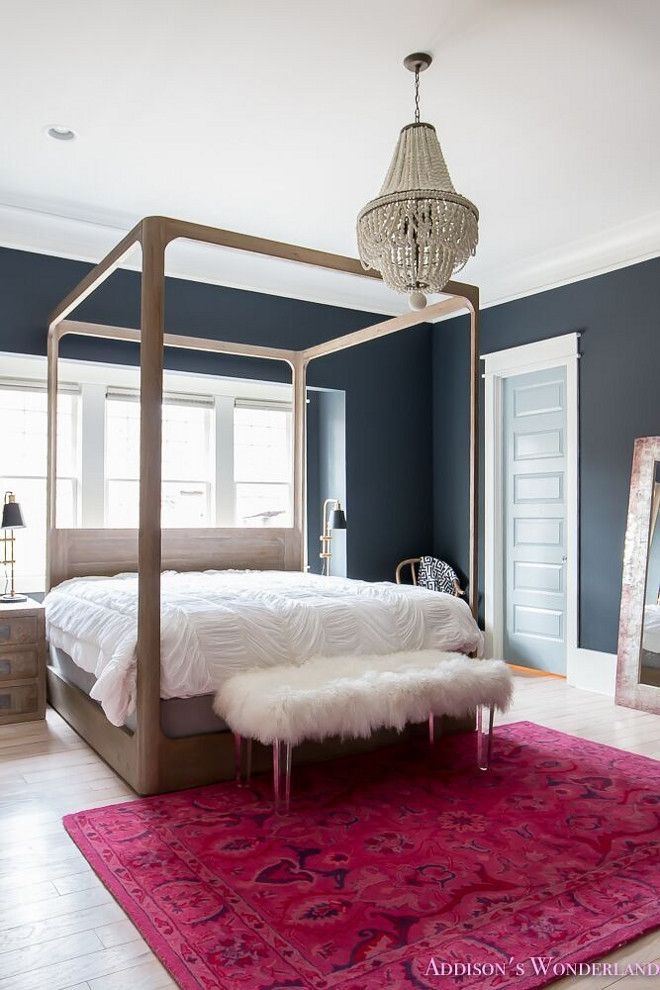 4 Poster Bed Master Bedroom Dark Wood