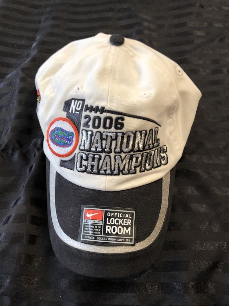 3619be49c98bc NIKE 2006 Florida Gators National Champions BCS Hat Cap One Size Locker  Room  fashion