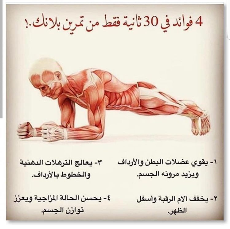 تعرف على فوائد تمرين بلانك Health Facts Fitness Health And Fitness Articles Fitness Workout For Women