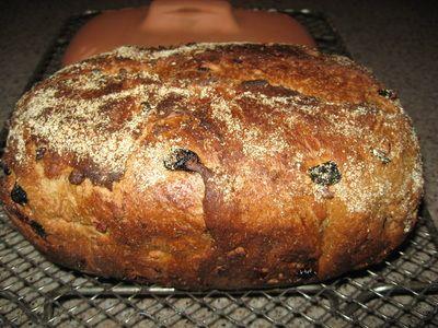 Nutty Prune Wheat Bread
