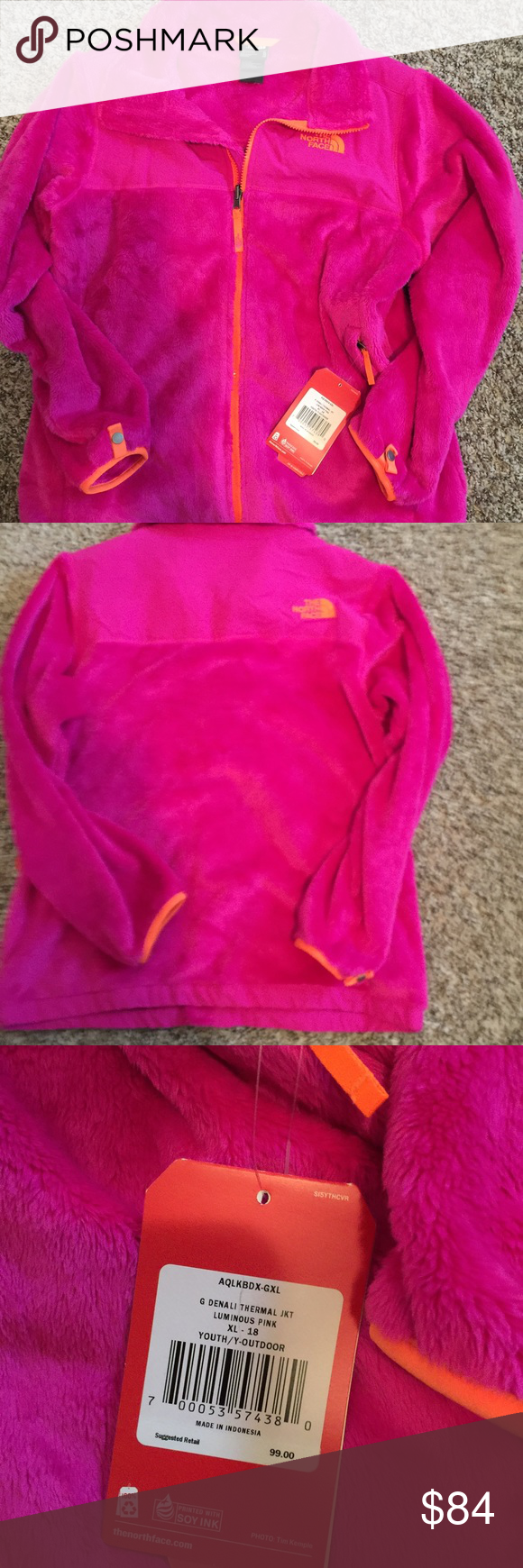 NWT Denali thermal jacket XL Luminous Pink Denali North Face with tag  $99 North Face Jackets & Coats
