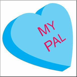 Clip Art Candy Conversation Heart Blue With My Pal Text Valentine S Day Valentine Coloring Pages Valentine Coloring Candy Coloring Pages