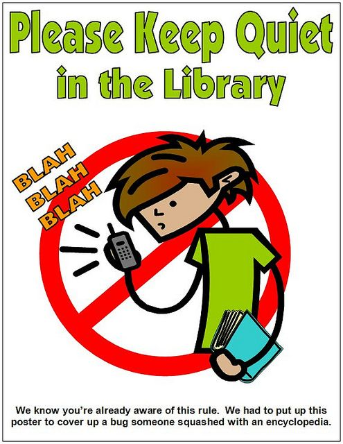 image about Printable Quiet Signs referred to as PRINTABLES: Library Signage Library signage, Library
