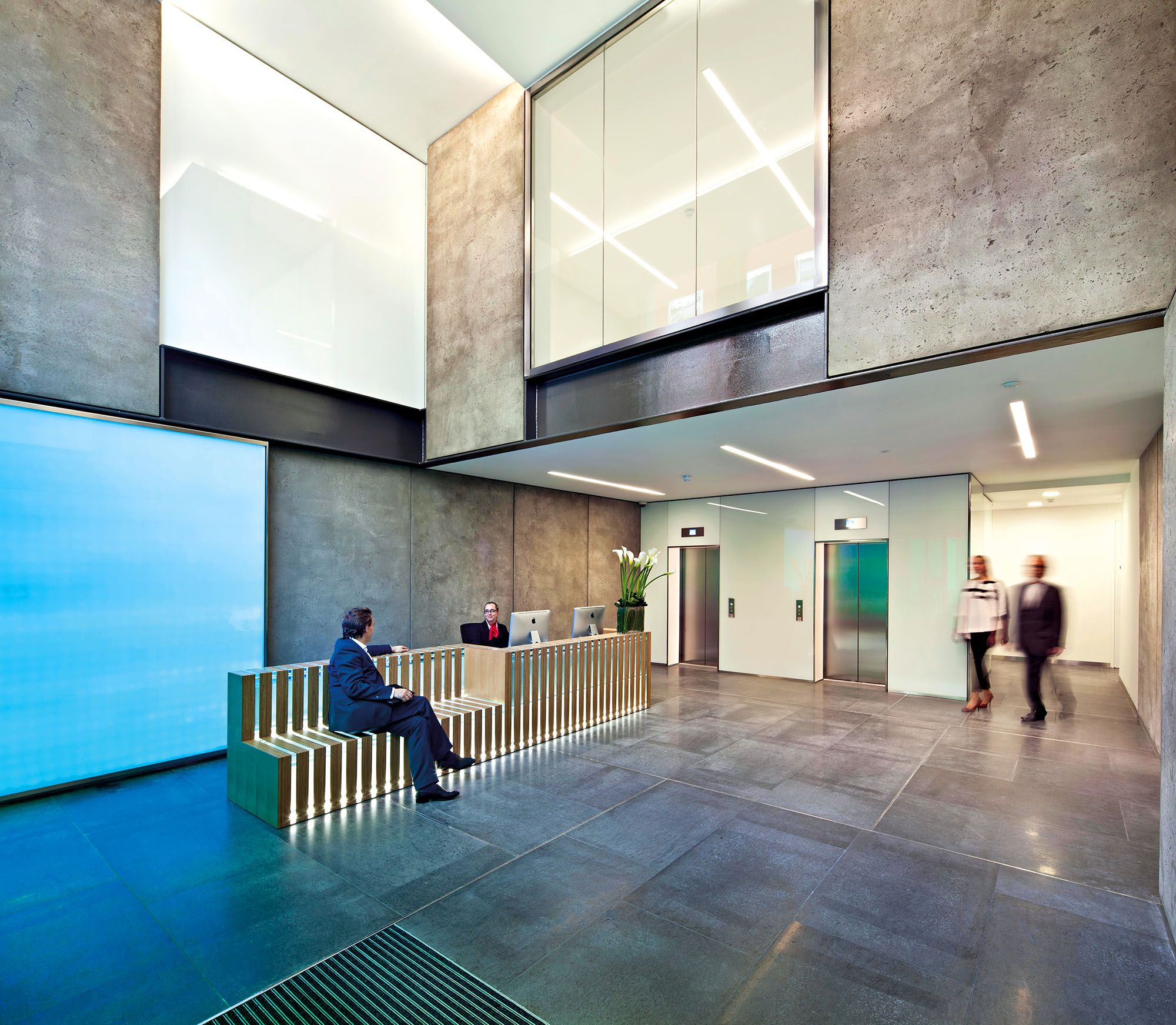 Wall Panels To Reception Areas Spec Mpg07 Pumice Impreg