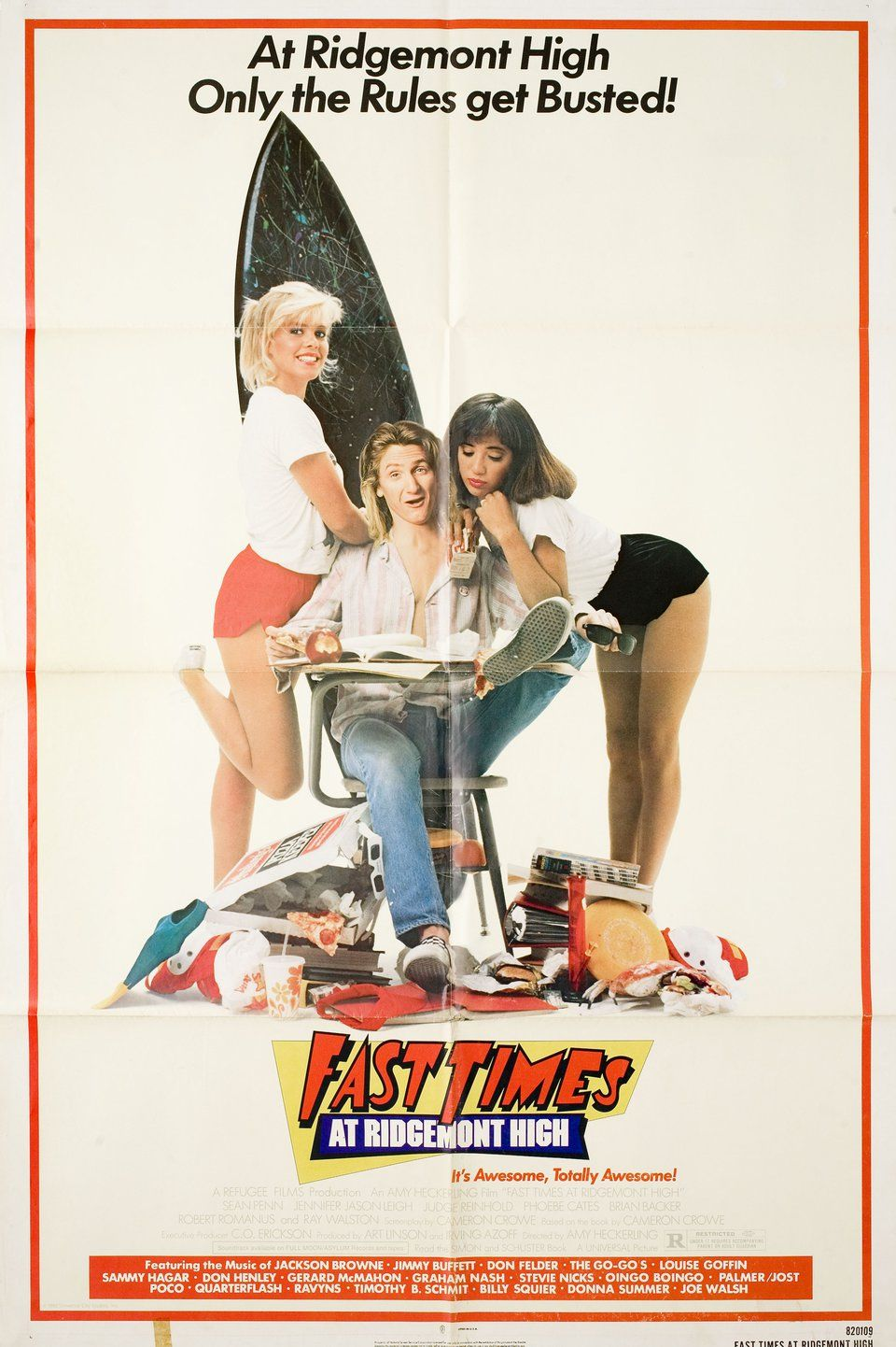 Fast times at ridgemont high 1982 us one sheet poster