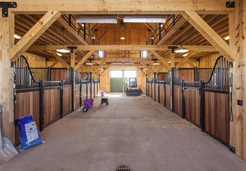 timber frame barn 40x60 | Horse Barn Interiors | Barn ...