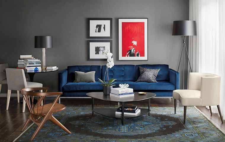Room & Board living room idea. Looking for one of a kind art photo ...