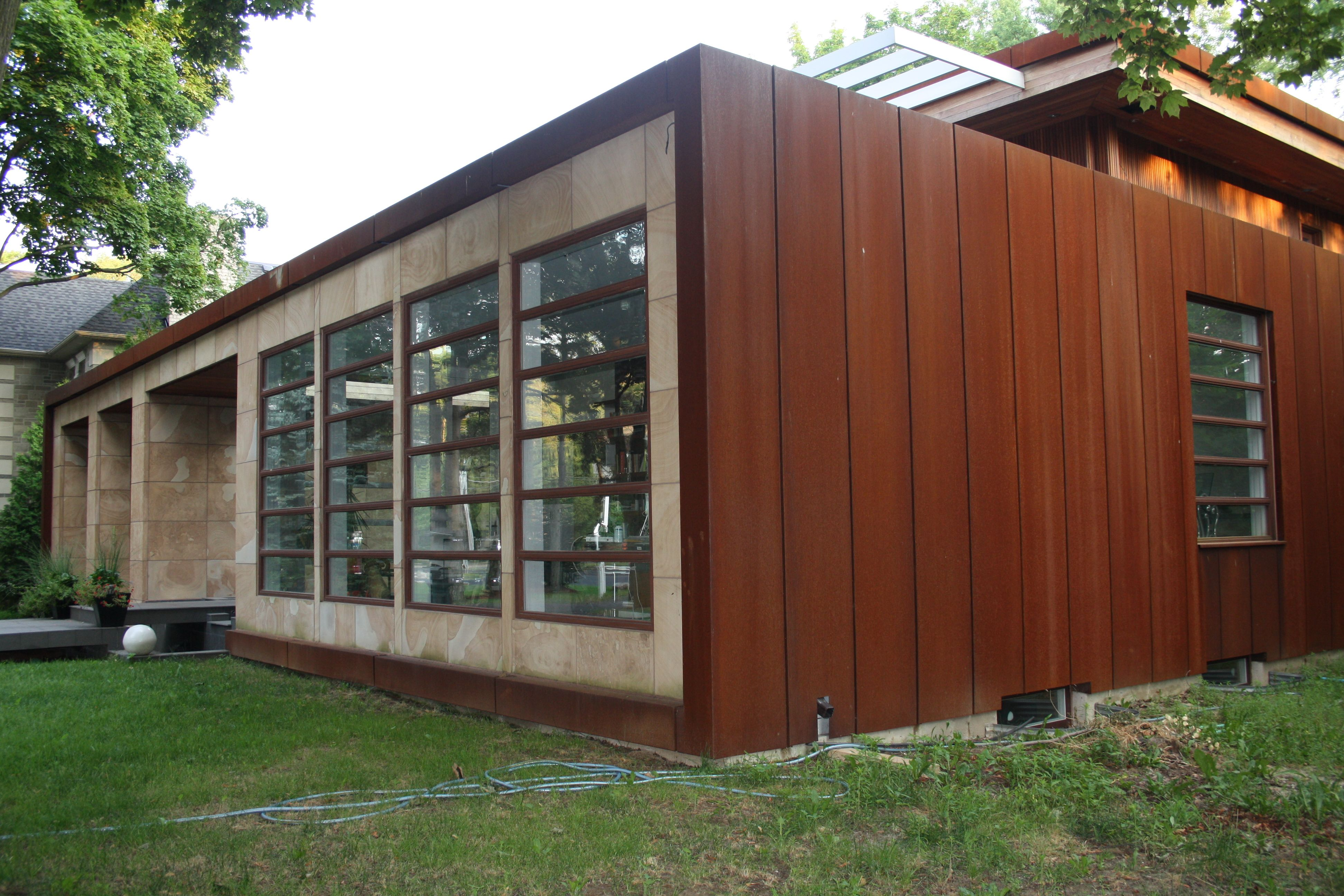 We Make Cor Ten Steel And Stainless Steel Walls Planters Water Features Steel Siding House Metal Siding Options Corten