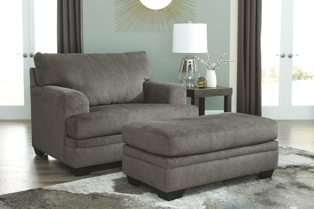Dorsten Slate Chair And A Half With Ottoman Chair And A Half Chair And Ottoman Set Slate Sofa