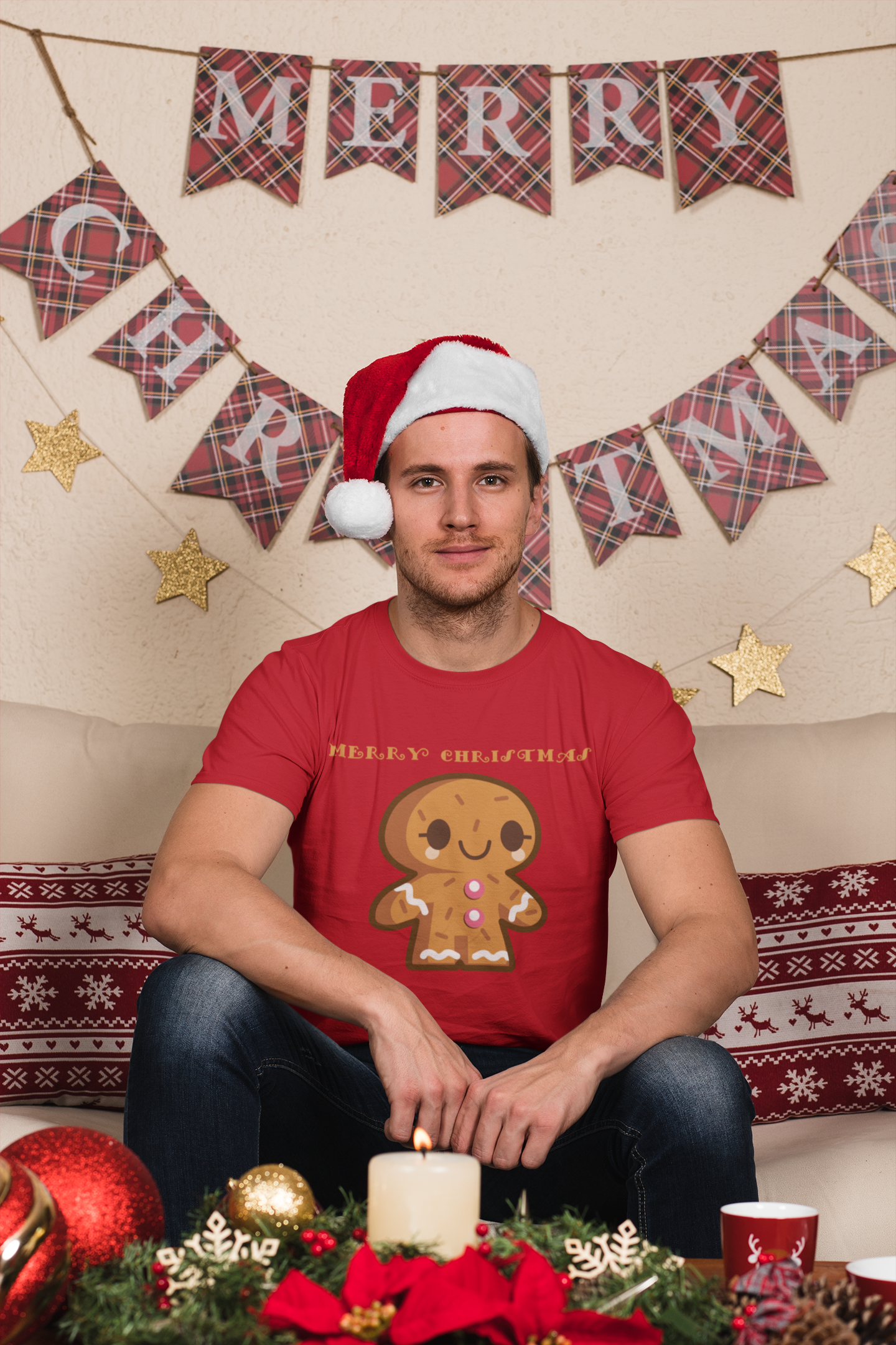 Cute Gingerbread Man Christmas Apparel Cookie Lovers Gift T-Shirt