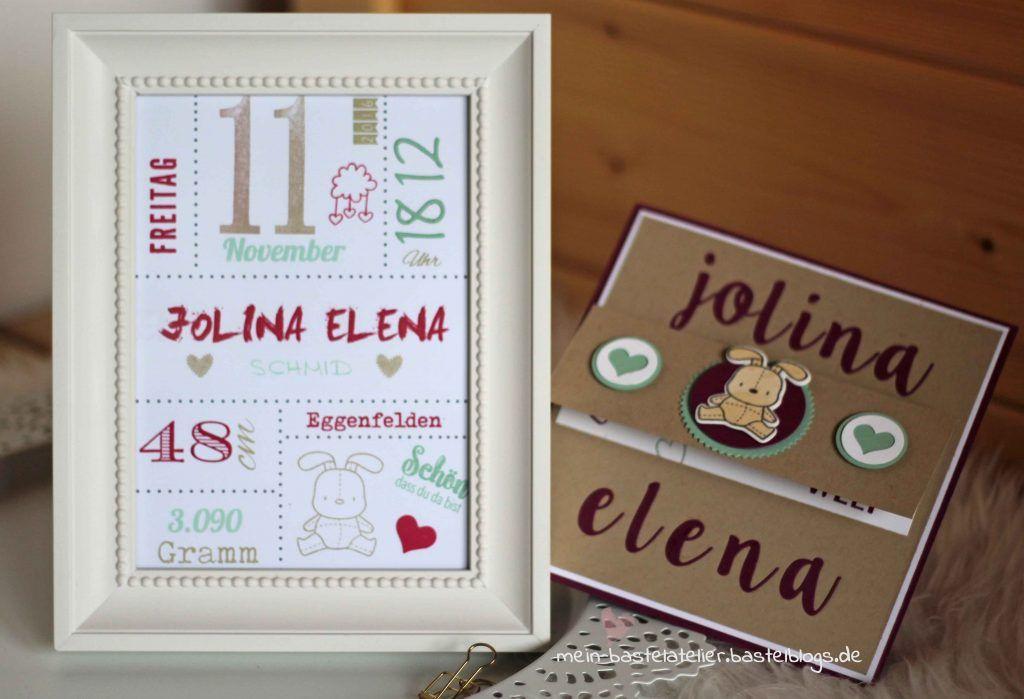 Geschenk Baby Geburtsplakat Rahmen zur Geburt personalisiert mit ...