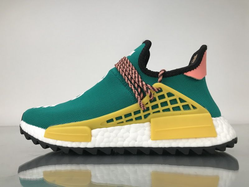 "3810d089336b Adidas NMD Human Race Pharrell Williams ""Sun Glow"" AC7188"