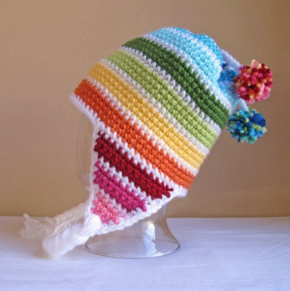 CROCHET PATTERN - Snow Day - crochet earflap hat pattern, crochet ...