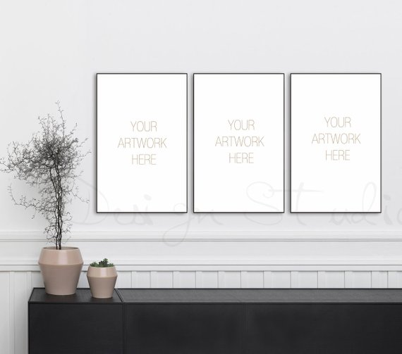 11x17 Set Of Three Vertical Digital Black Frame Mockup Styled Stock Photography Product Background With Images Styled Stock Photography Frame Mockups Photography Products