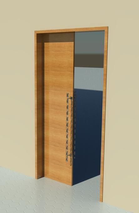 Sliding Door Pocket Door Wood Revit Models Pocket