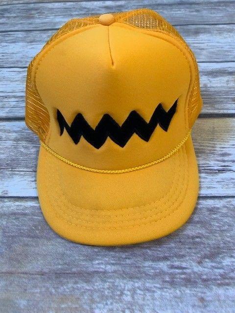 Vintage Charlie Brown Peanuts Foam Mesh SnapBack Hat Cap Nissun  fashion   clothing  shoes b6e2e62112ab