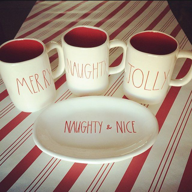 Rae Dunn Christmas.Giveaway Time Winner Receives All 3 Mugs And Plate Shown