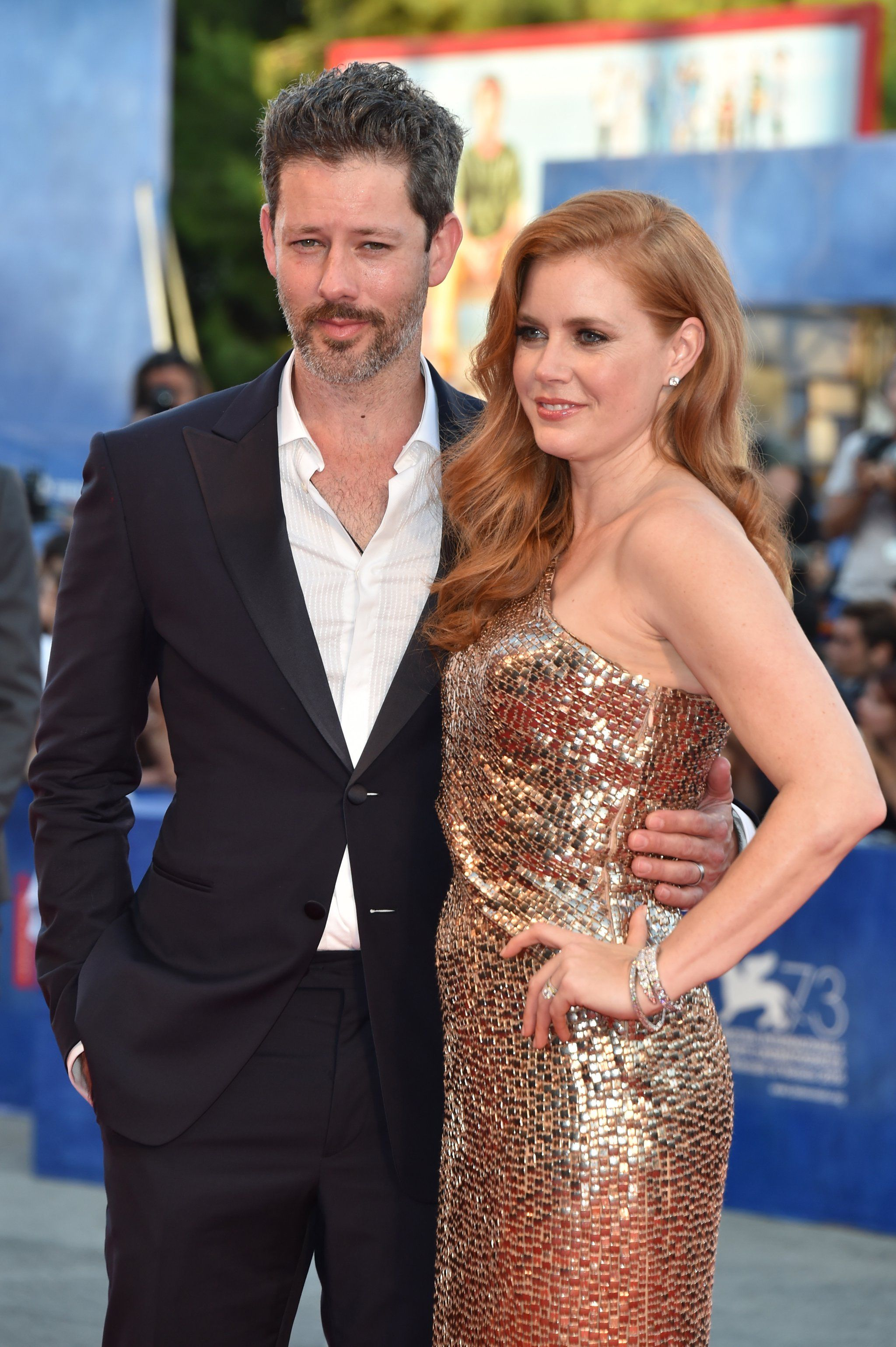 Amy Adams and Her Husband Steal Some Kisses During a